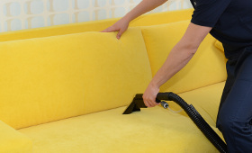 Upholstery cleaning Custom House E16